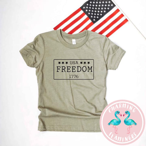 Freedom USA License Plate Kids Graphic Tee
