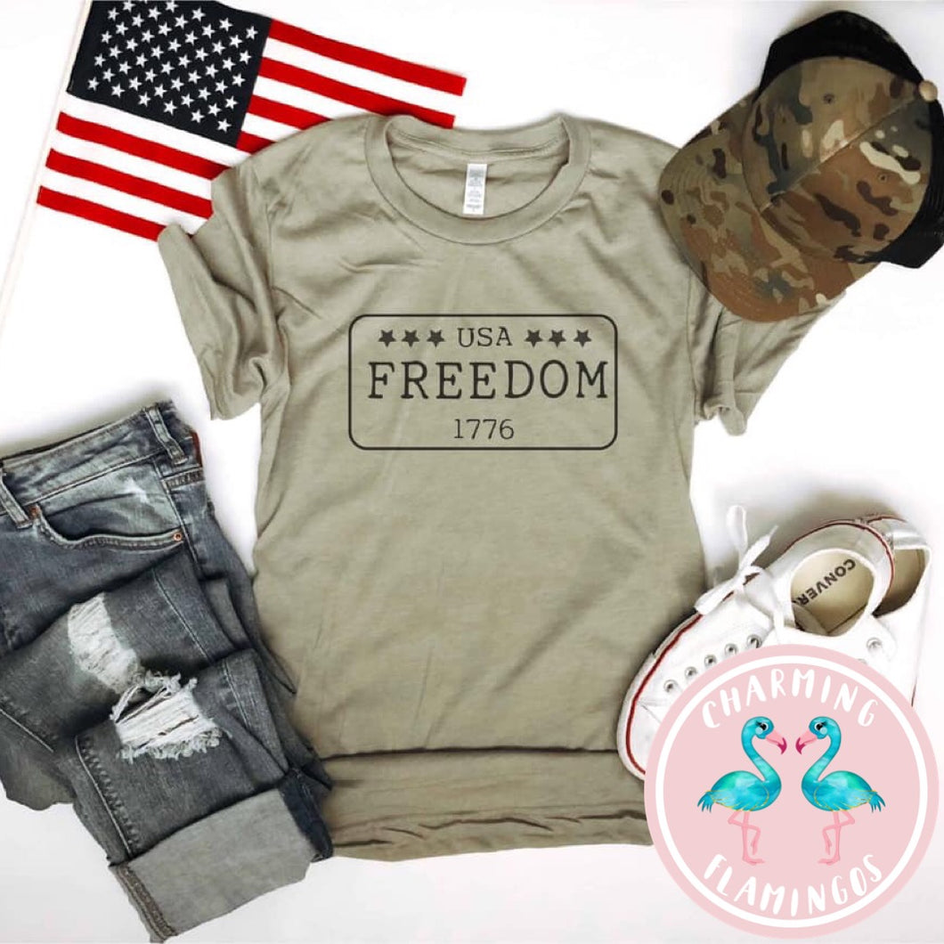 Freedom USA License Plate Graphic Tee