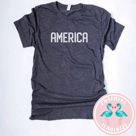 America Blockletter Graphic Tee