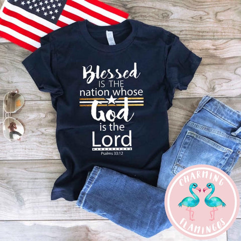 Blessed Is The Nation Kid's Graphic Tee