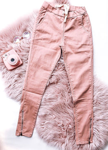 Pink and Pretty Side Zip Pants
