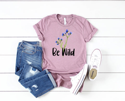 BE WILD BLUE BONNETS GRAPHIC TEE