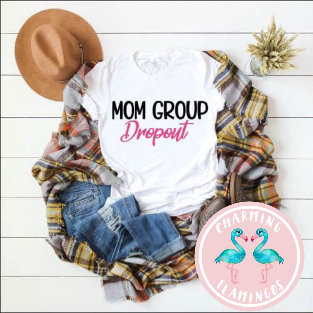 Mom Group Dropout Graphic Tee