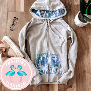 Blue Palms Zip Up Hoodie