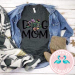 Floral Paw Print Dog Mom Graphic Tee
