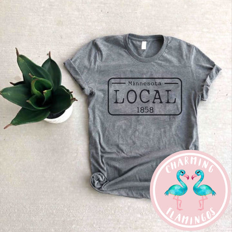 Local License Plate Tee (Pick your state)