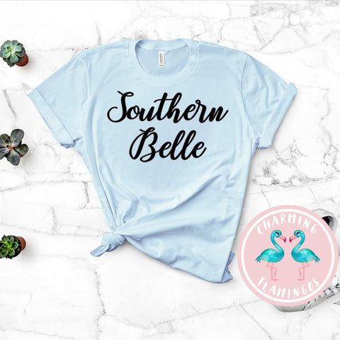 Southern Belle Light Blue Graphic Tee