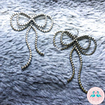 Silver Patterned Bows