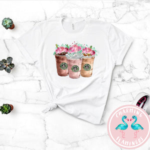 Floral Starbucks Graphic Tee