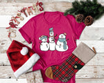 Cute Snowmen ⛄️ Graphic Tee