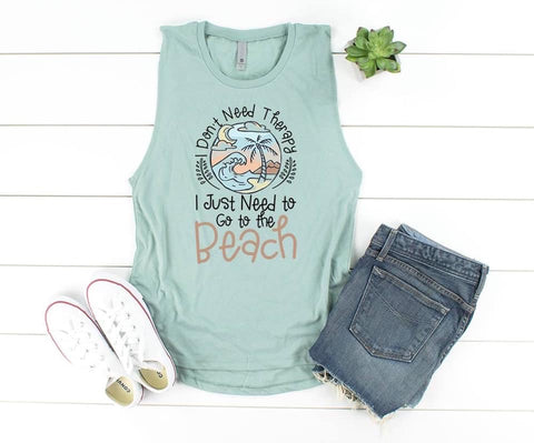 Don't Need Therapy Need The Beach Graphic Tank