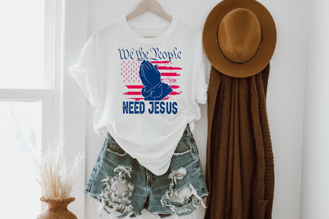 WE THE PEOPLE NEED JESUS GRAPHIC TEE 🇺🇸
