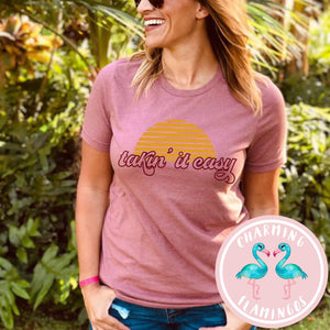 Takin' It Easy Graphic Tee in Mauve