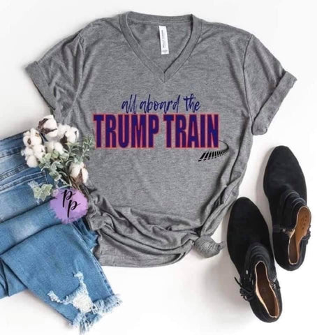 All Aboard The Trump Train Graphic Tee