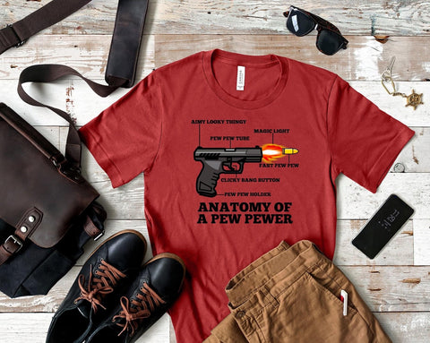 Anatomy Of A Gun Graphic Tee