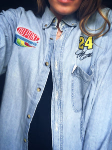 DuPont #24 Race Jean Button Up - M/L