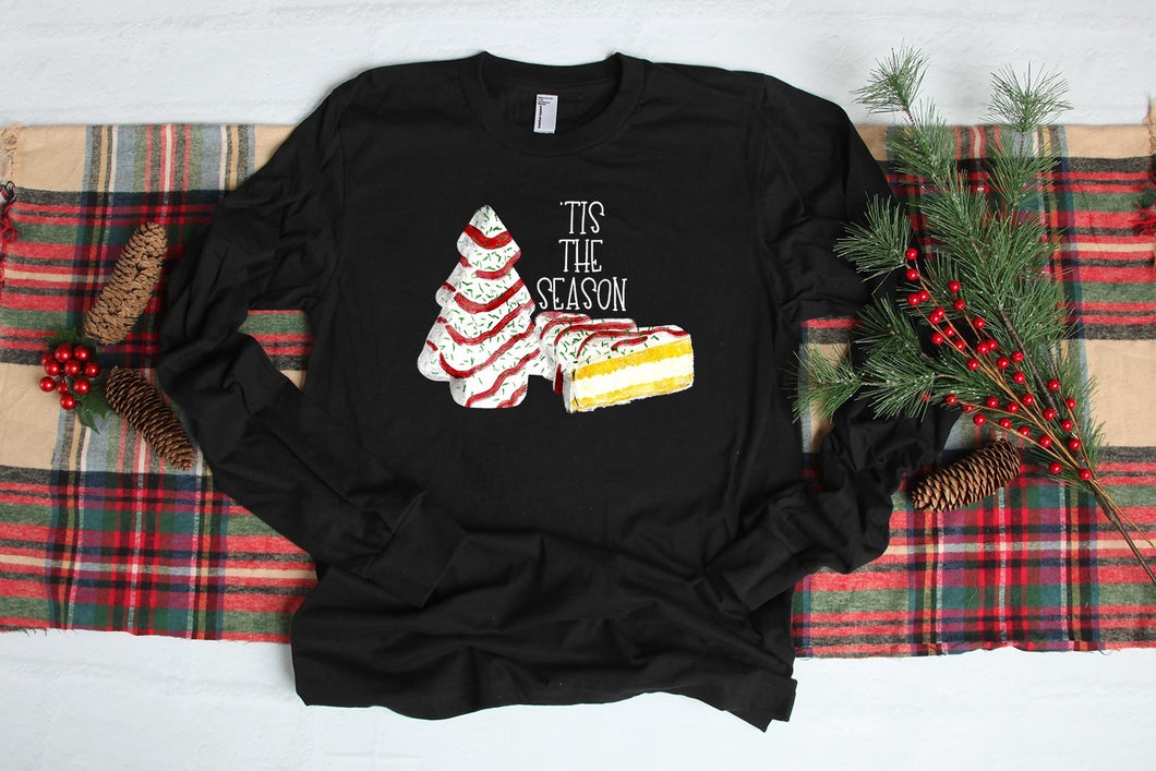 Tis' The Season Little Debbie Graphic Long Sleeve