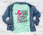 Waymaker & Miracle Worker Watercolor Cross Graphic Tee