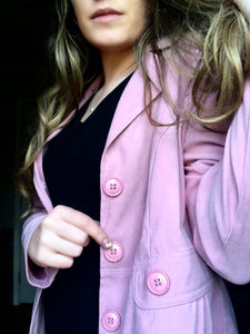 Baby Pink Button Up Jacket - M/L