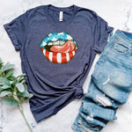 Flag Lips Graphic Tee 🇺🇸