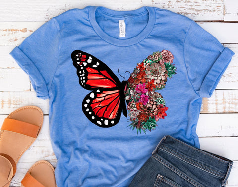 Butterfly 🦋 Succulents Graphic Tee