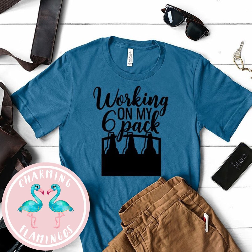 Working On My Six Pack 🍺 Graphic Tee