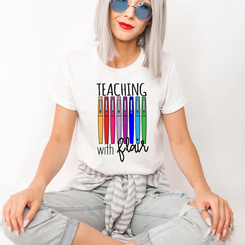 Teaching w/ Flair Bic Felt Tip Pens 🖊 Graphic Tee