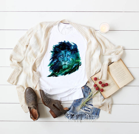 Watercolor Lion Graphic Tee