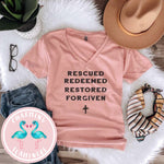 Rescued, Redeemed, Restored, Forgiven Graphic Tee