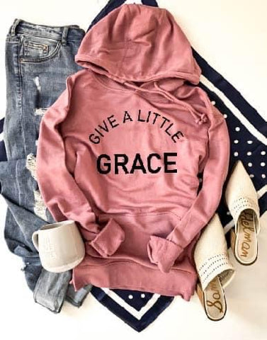 GIVE A LITTLE GRACE HOODIE PINK