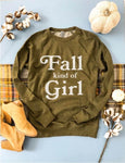 Fall Kind Of Girl French Terry Raglan Olive