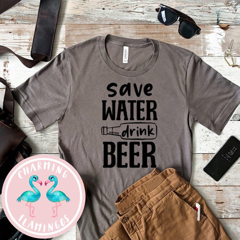 Save Water Drink Beer Graphic Tee