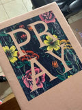 Pray Floral Design Graphic Tee