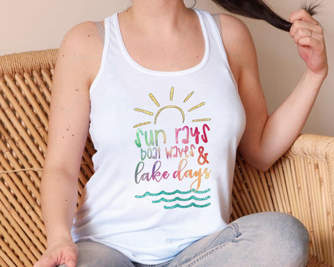 Sun Rays ☀️ Boat Waves 🌊 Lake Days ⛵️ Graphic Tank