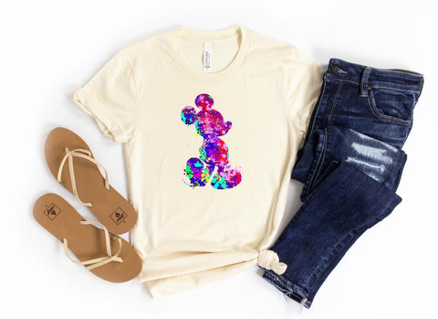 Watercolor Mickey Graphic Tee 🏰