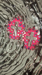 Pink Cross Crystal Earrings
