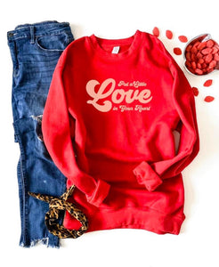 Put A Little Love In Your Heart Sweatshirt