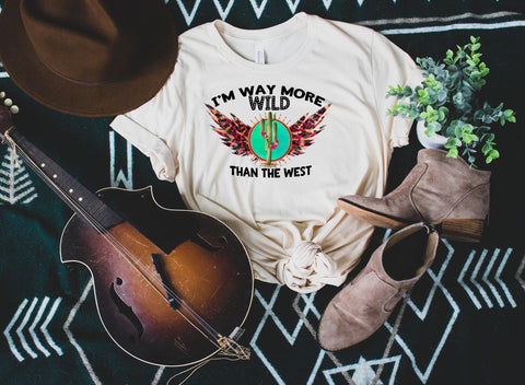 Way More Wild Than The West 🌵 Graphic Tee