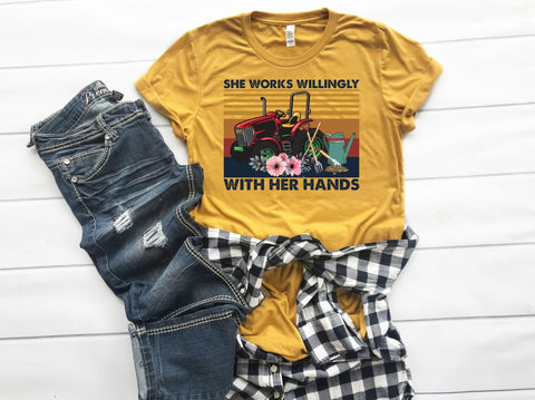 She Works Willingly W/ Her Hands Graphic Tee
