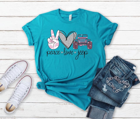 Peace ✌🏻 Love 💗 Jeep 🚘 Graphic Tee
