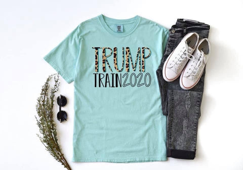 Trump Train Cheetah Graphic Tee