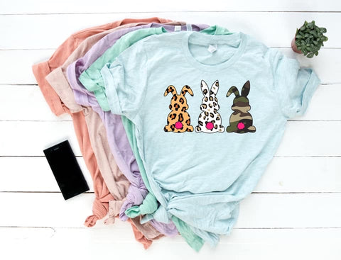 Cheetah / Camo Bunnies Graphic Tee 🐰