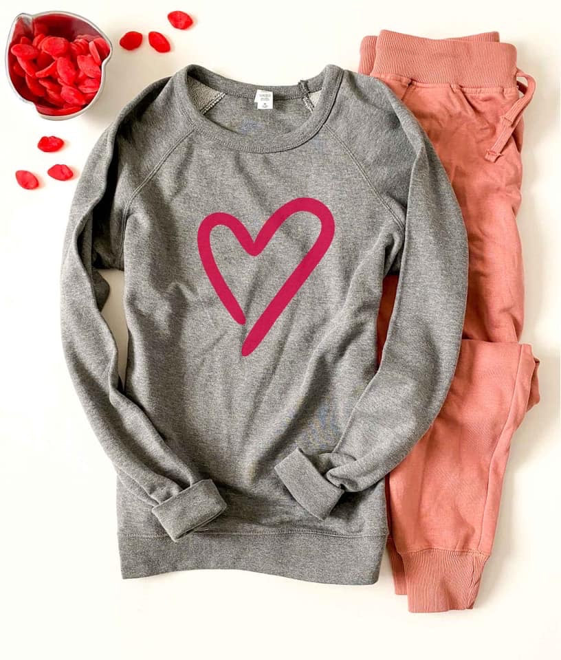 Heart Raglan Sweater