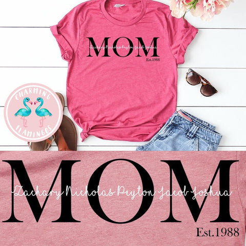 MOM w/ Names Graphic Tee