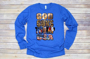 God, Guns & Trump Graphic Long Sleeve
