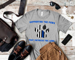 Supporting The Paws 🐾 That Enforce The Laws 🚓  Graphic Tee