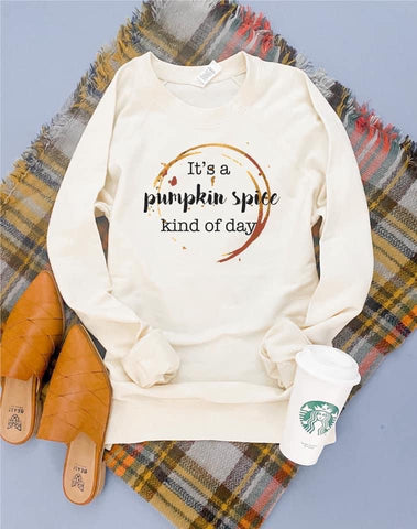 It's A Pumpkin 🥧 Spice Kind of Day French Terry Raglan