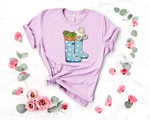 Bunny In A Rain Boot Graphic Tee