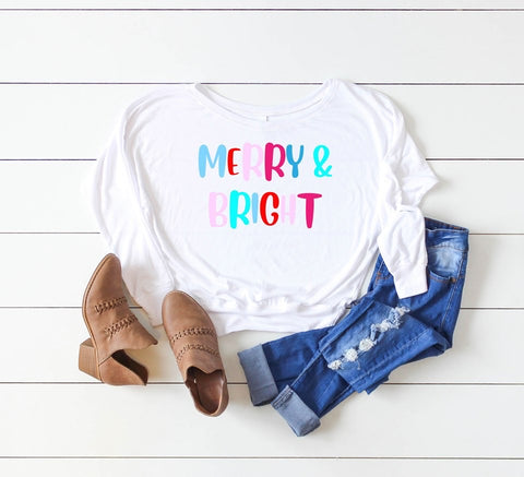 Merry & Bright Lightweight Open Neck Tee