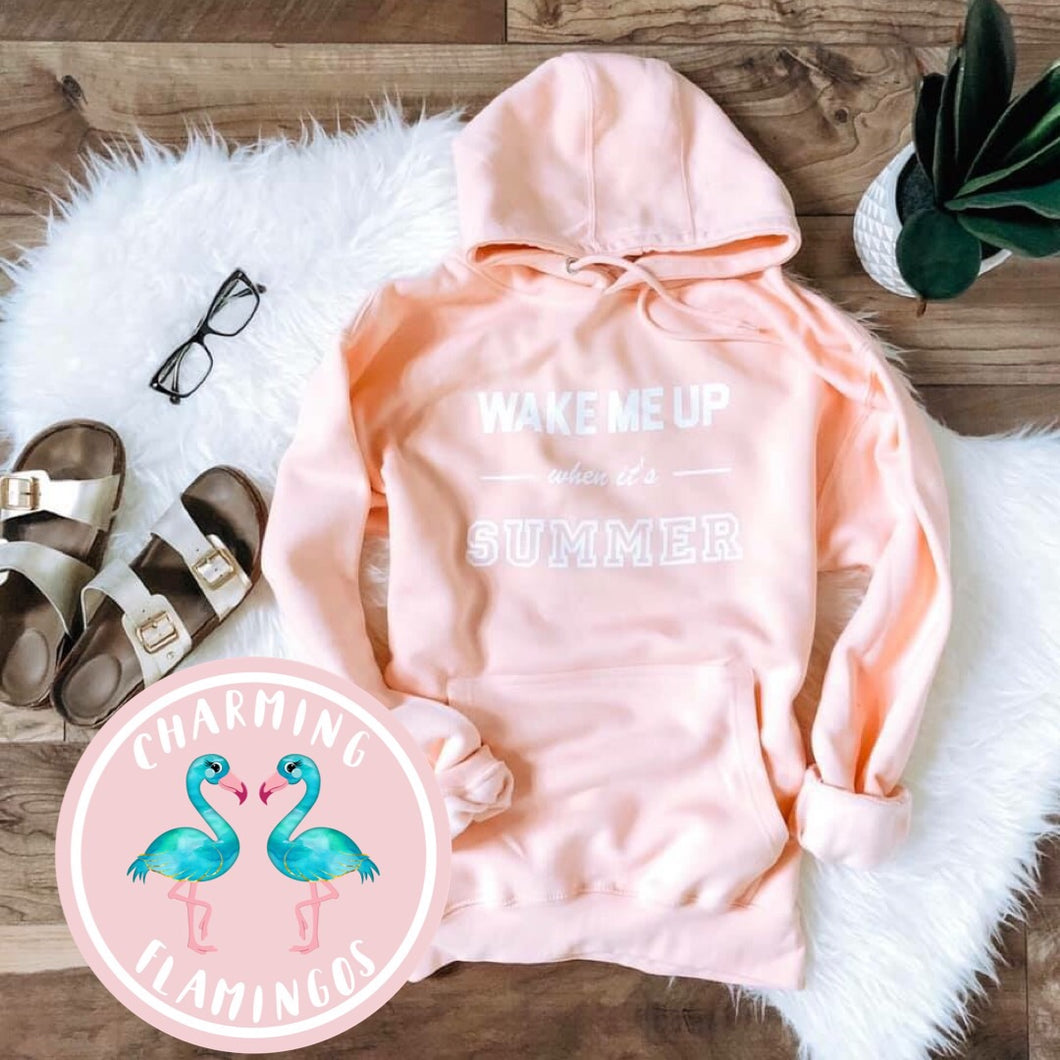 Wake Me Up When It's Summer Sweatshirt (Baby Blush)